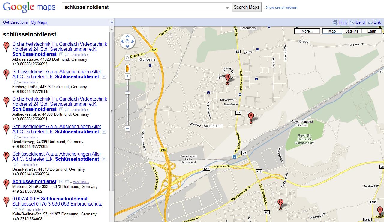 Betrug und Missbrauch bei Google Maps