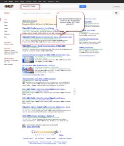Video SEO Traffic Google Ranking nach ca. 1 Stunde