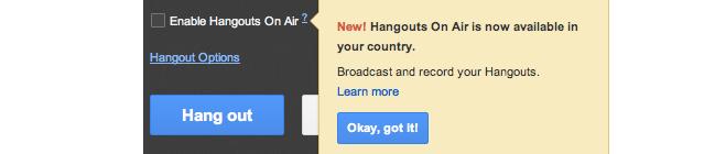 Google Hangout on Air in Deutschland verfügbar